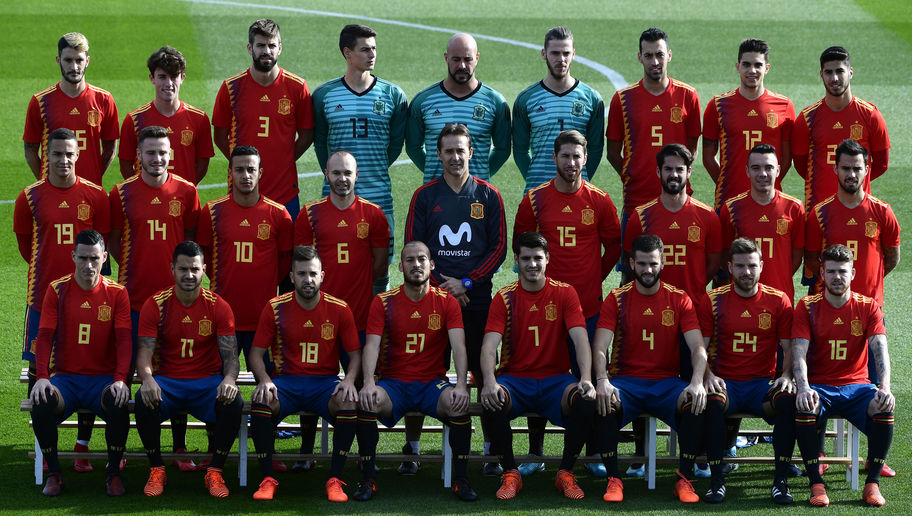 los jugadores de España por ganar el Mundial